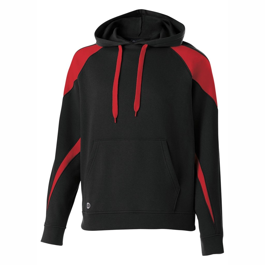 Holloway Youth Prospect Hoodie (Small, Black/Scarlet)