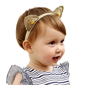 Button Baby Head Band Knitted Candy Color Infant Hair Bands for Girls Boys Kids