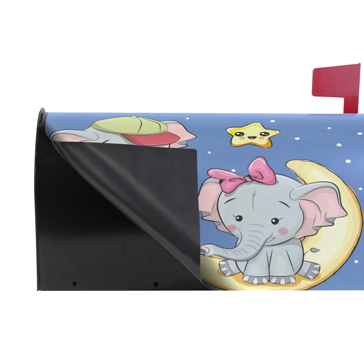ALARGE Funda magnética para buzón buzón buzón de Aluminio, diseño de Elefante Galaxy Estrella Luna 6ceffd