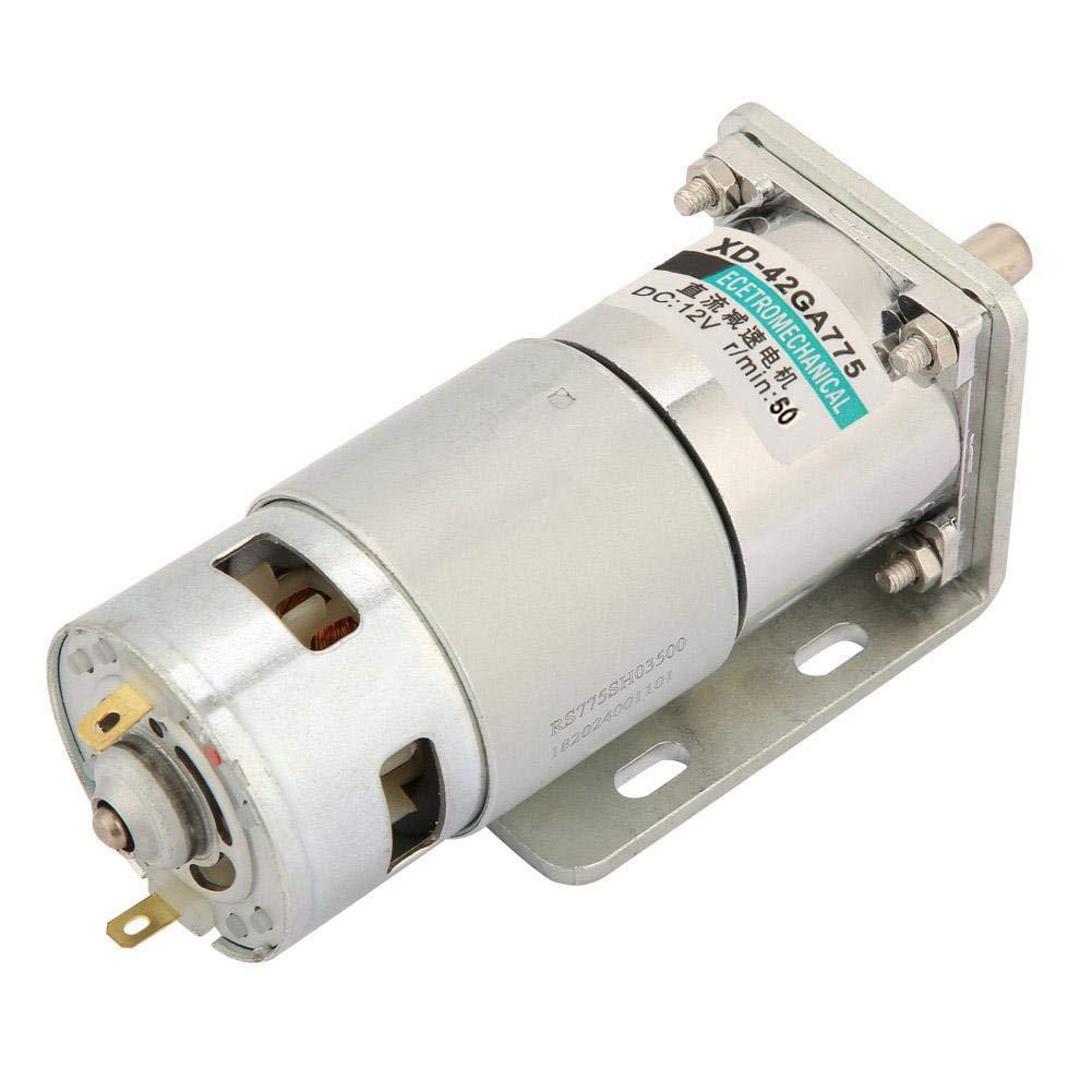 DC12V//24V Micro DC Getriebemotor Motor mit gro/ßem Drehmoment und einstellbarer Drehzahl mit Halterung XD 42GA775 50 U//min, 12 V