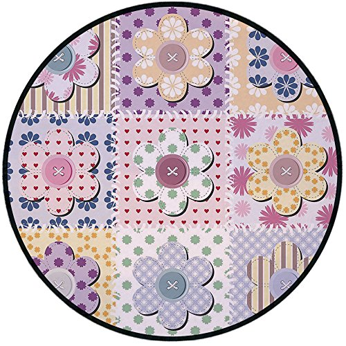 Printing Round Rug,Cabin Decor,Arts and Crafts Theme for sale  Delivered anywhere in USA