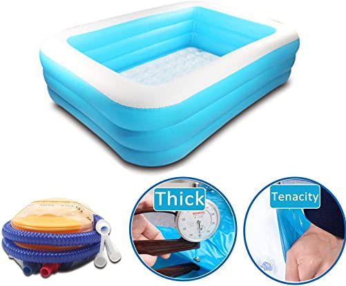 Cheerpet Inflatable Swimming Pool Thickened Family Pool for Children Adults Summer Water Party Lounge Pool for Garden, Backyard, Outdoor 1.8m