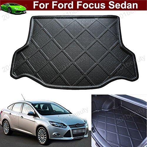 Car Boot Pad Cargo Mat Cargo Cover Cargo Liner Trunk Liner Tray Floor Mat Custom Fit for Ford Focus Sedan 2012 2013 2014 2015 2016 2017 2018 2019