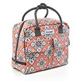 Fit & Fresh Molly Small Backpack, Lunch Bag for Women / Girls, Insulated Daypack for Travel and Work, Coral Paisley Quilt