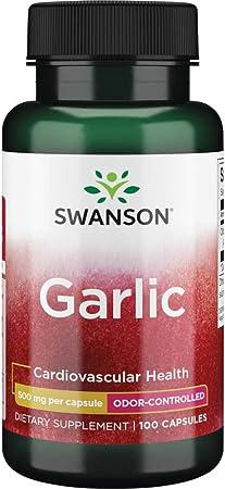 Swanson Odor-Controlled Garlic 500 Milligrams 100 Capsules