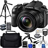 Panasonic Lumix DMC-FZ2500 - International Version (No Warranty) + 64GB SD Memory Card + 2 Extended Life Replacement Battery (DMW-BLC12) + Digital Slave Flash + Padded Hand/Wrist Strap & More!