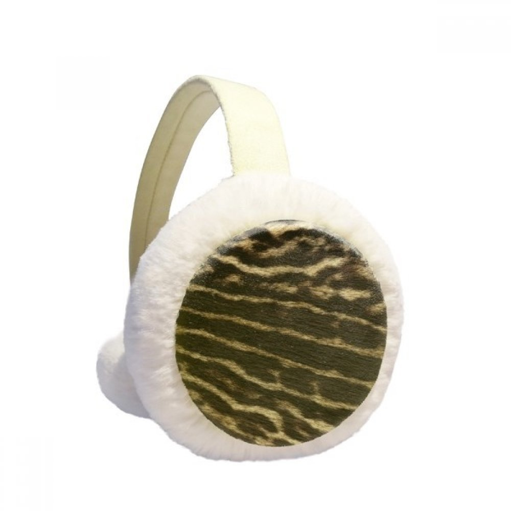 Deer Feather Abstract Design Winter Earmuffs Ear Warmers Faux Fur Foldable Plush Outdoor Gift