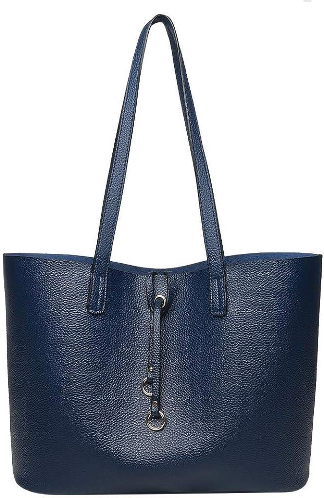 KEERADS BAG Femmes Dames Mode R/étro Solide Grande Capacit/é /Épaule Fourre-Tout Sac /à Main Casual Sac