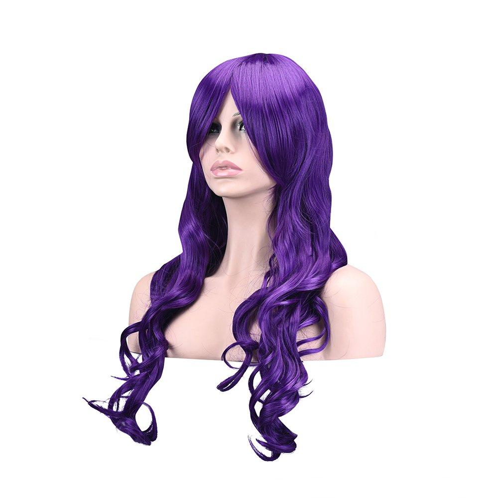 """Ambielly 32""""/ 80 cm De las mujeres Peluca Largo Rizado Ondulado Cabello Fiesta Cosplay Peluca pedazo de cabello Peluca (Plata) BUYBOE LEAGUE"""