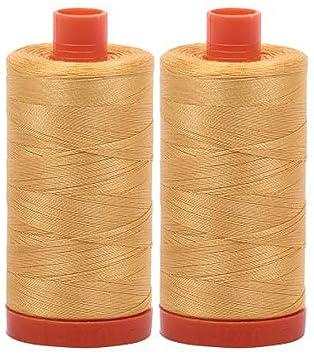 New AURIFIL Large Spool Thread 50 wt 1422 yards 3920 Golden Glow