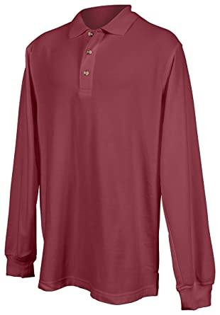 b77f694874aa Tri-Mountain Men Champion Long Sleeve Pique Knit Golf Shirt (15 Colors,  XS-6XLT) at Amazon Men's Clothing store:
