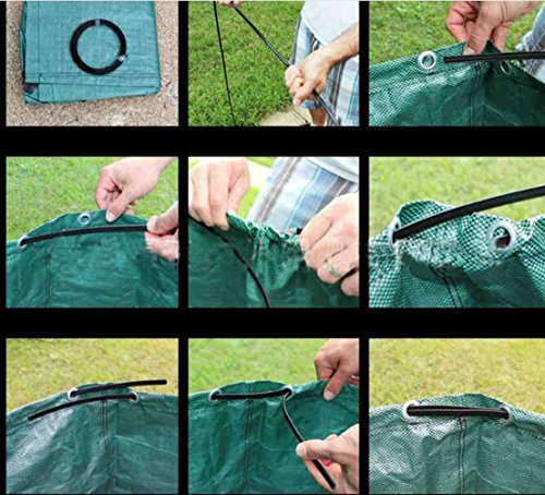 SUNWIN Lawn and Leaf Bags Garden Reusable Leaf Bag Yard Lawn Gardening Waste Bag 63 Gallons by Sunwin (Image #4)'