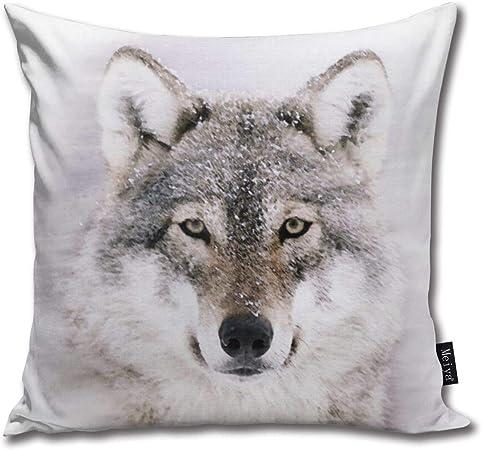 Loup Loups Housse de coussin 45x45 cm Moon