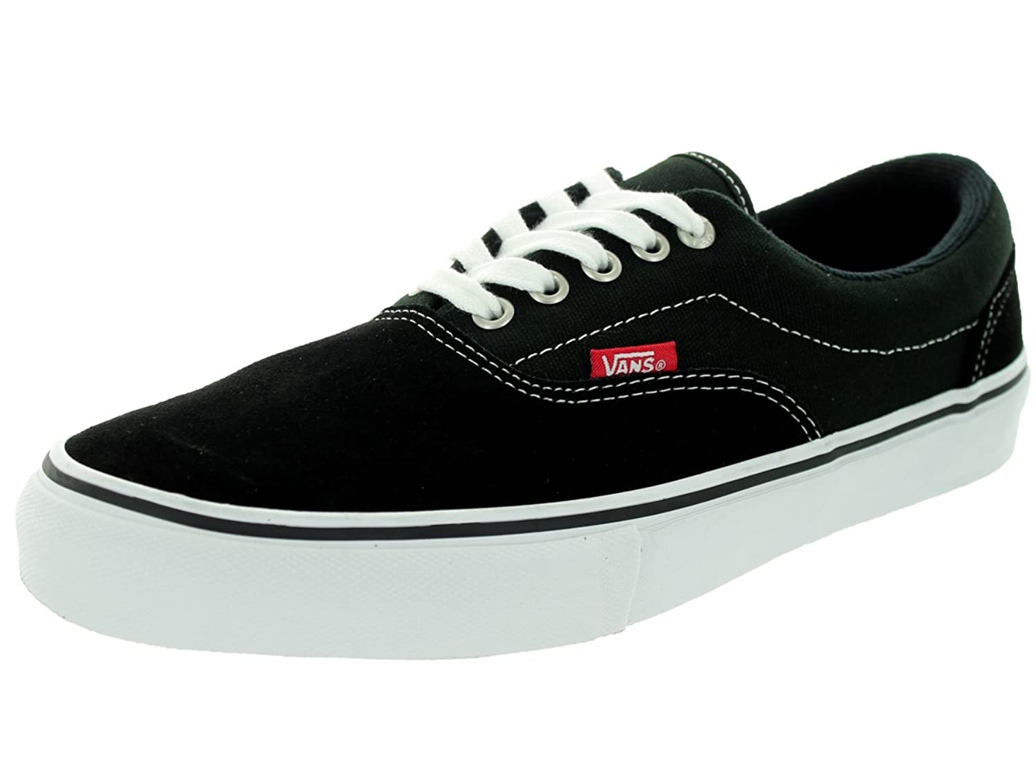 Amazon.com | Vans Men's Era Pro Black/White/Red Skate Shoe 12 Men US |  Skateboarding