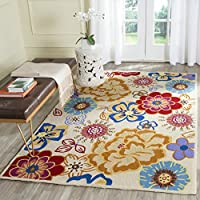 Safavieh Four Seasons Collection FRS467B Hand-Hooked Ivory and Multi Indoor/ Outdoor Area Rug (5 x 7)