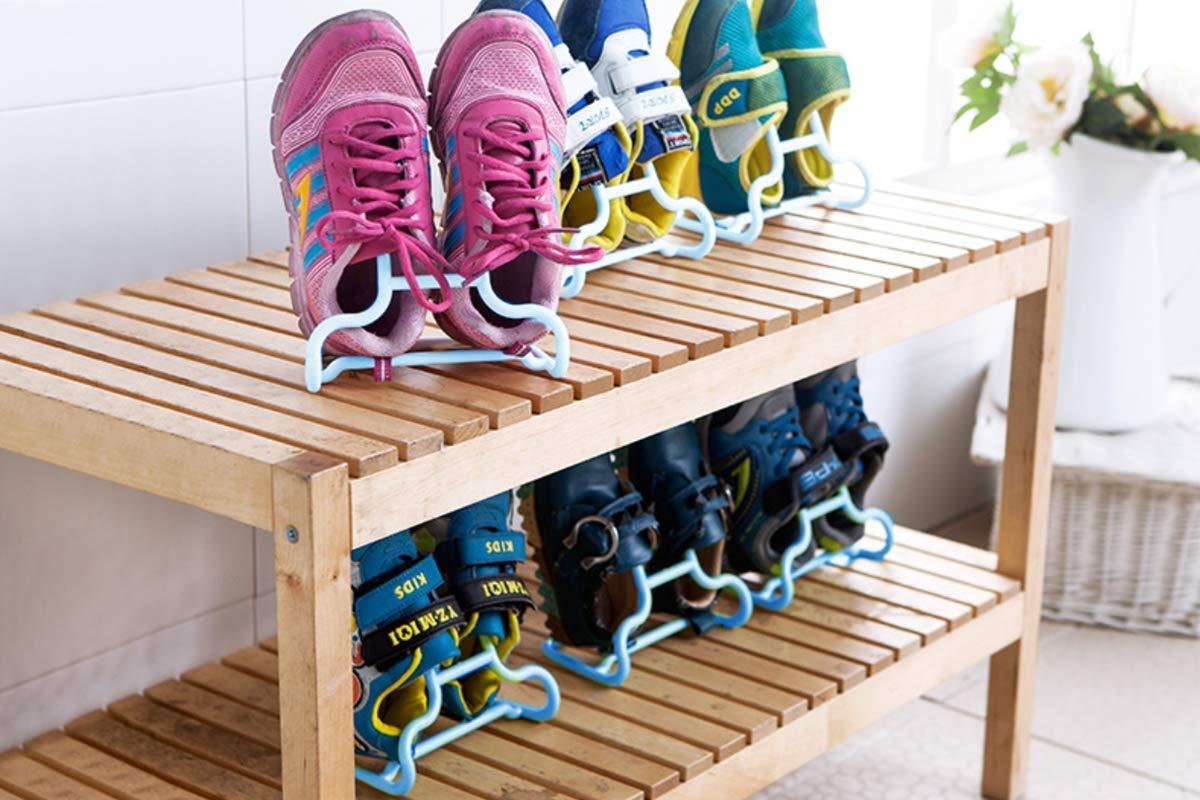 Storage Shoe Function Drying Shoes Function Blue Only for Children SZSJ 6 Pair TabEnteer Dual-Purpose Shoe Organizer