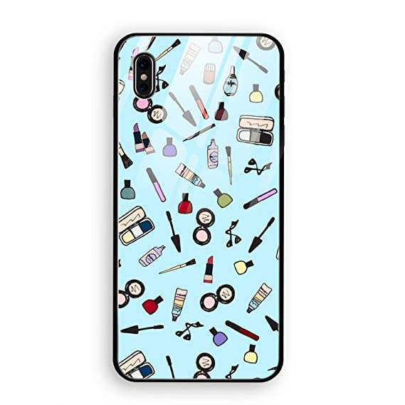 Amazon Com Cute Makeup Phone X Cover Case Tempered Glass