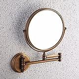 Bathroom mirrors Continental antique retro-copper makeup mirror beauty mirror wc bathroom mirrors vanity mirrors