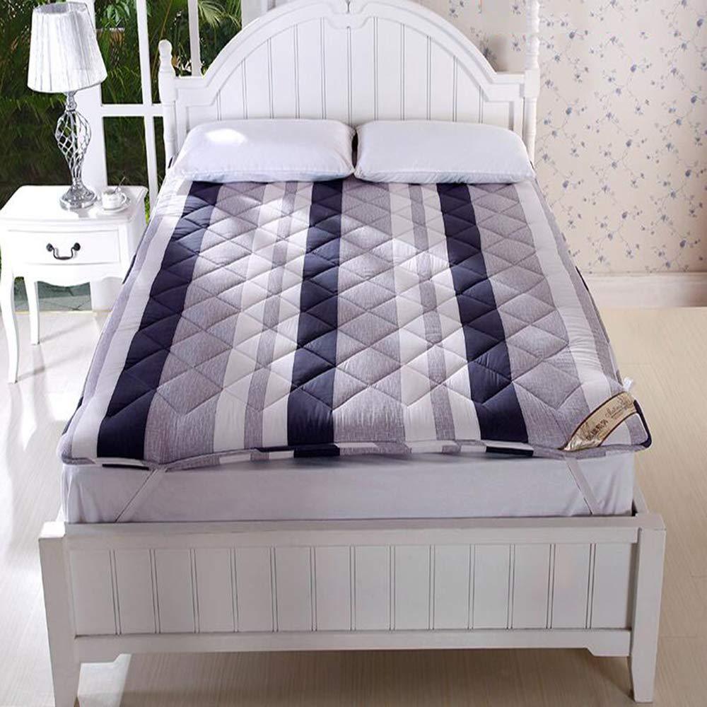 Love Home Tatami Matratzen-Auflage, japanische Faltbare Vierjahreszeiten Baby Student Schlafmatratze Krabbelmatte Bodenbett Schlafmatte, Schaumstoff, Blau a, 180x200cm(71x79inch)
