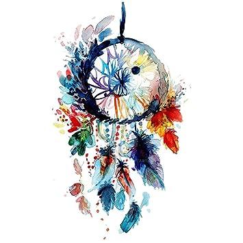 Amazon WYUEN 40 PCS Watercolor Dreamcatcher Body Temporary Amazing Water Color Dream Catcher