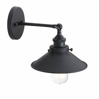 Abat Rétro pas Jour Murale Avec Métal Vintage E27 Industriel Pathson Applique D'ampoule Réglable Lampe 9EDHW2IY