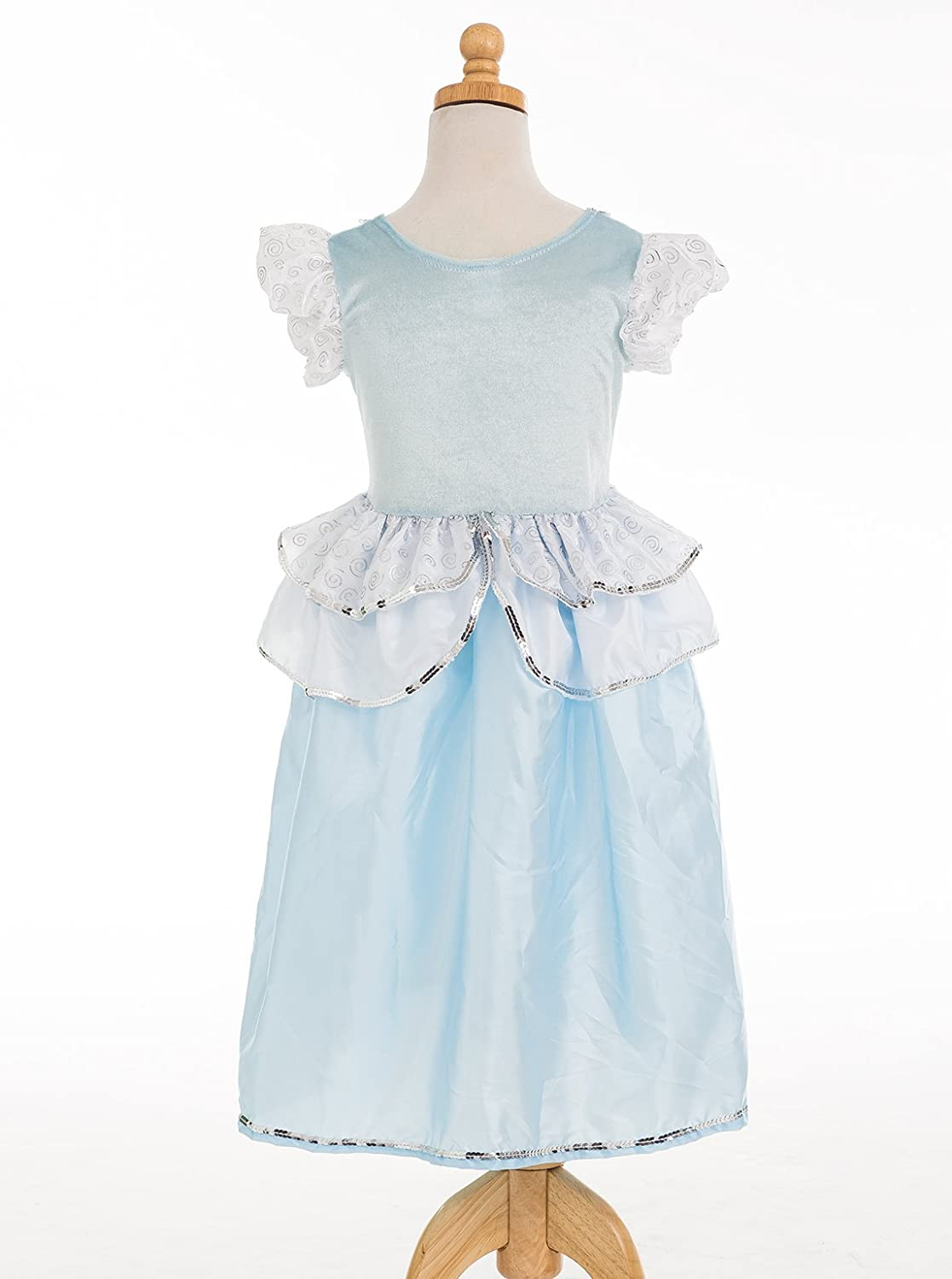 Amazon.com: Little Adventures Cinderella Princess Dress Up Costume ...