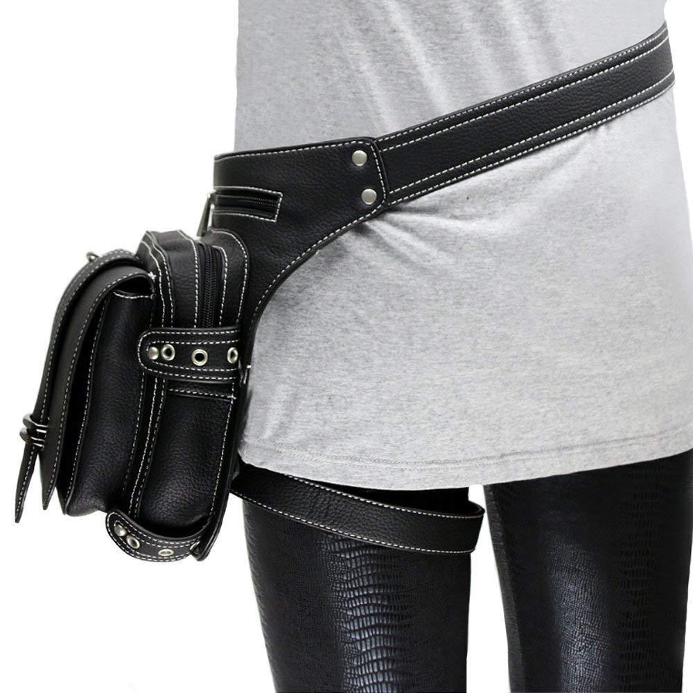 Steampunk VTG Multi-Functional Drop Leg Waist Bag Pack Hip Belt Fanny Messenger Bag Phone Purse Handbag