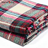 #2: Marvel O Bug Warm Plaid Fashion Women Oversized Fringe Scarf Blanket Shawl Wraps Poncho Pashminas