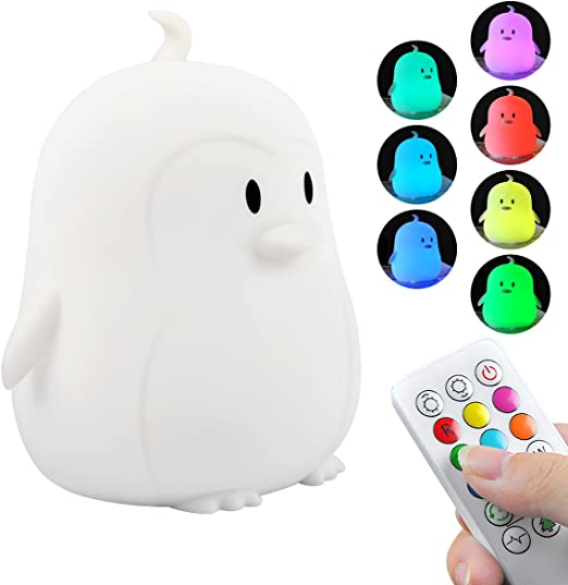 INST Kids Night Lights Best Baby Gift Rechargeable Warm White LED Lamp Baby Night Light Cute Chick LED Night Light with Touch Sensor