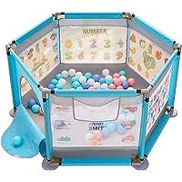 Cerca portátil plegable para corralito para bebés, puerta