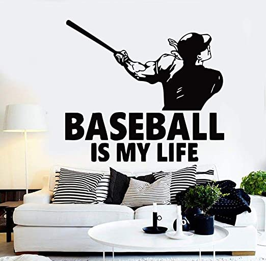 Amazon Com Sports Decals Wall Art Decor Personilized Baseball Sports Decor For Boys Kids Nursery Living Room Bedroom Vinyl Stickers Decoration Inspirational Motivational Quotes Sayings Sp297 Home Kitchen