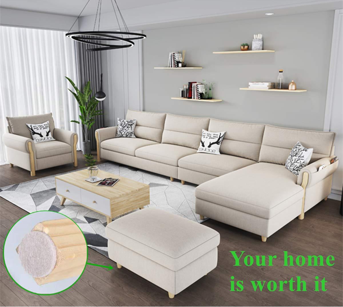 Furniture Felt Pads 204pcs Pack Self Adhesive Beige Furniture Pads Anti Scratch