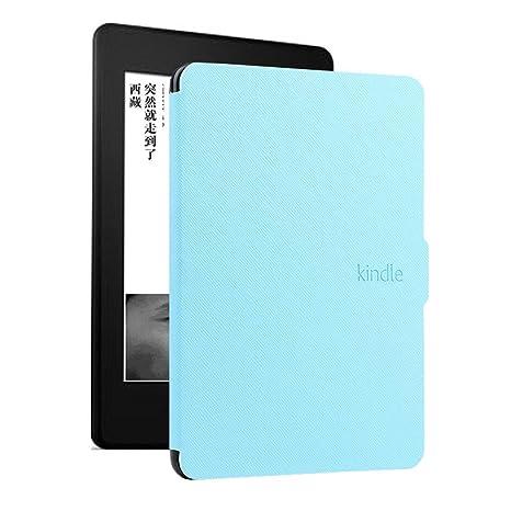 DATOUDATOU E-Reader Funda para Kindle 8 Generación Ebook Piel Azul ...