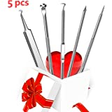Erwazi Blackhead Removal Kit 6Pcs Professional Blemish and Splinter Acne Pimple Remover Tools Extractor Tool for Whitehead Acne Blemish Comedone Extractor Pimples and Leather Case