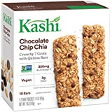 Kashi Crunchy Chia Bar, Chocolate Chip,0.7 Ounce,10 Count