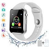 SUNETLINK Smart Watches, Bluetooth Smart Watch Anti-Lost Touch Screen with Camera, Cell Phone Watch with Sim Card Slot, Smart Wrist Watch Compatible with Android Phones iOS for Kids Men Women