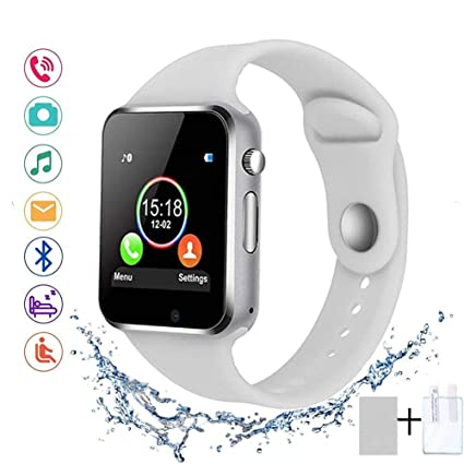 SUNETLINK Smart Watches, Bluetooth Smart Watch Anti-Lost Touch Screen with Camera, Cell Phone Watch with Sim Card Slot, Smart Wrist Watch Compatible ...