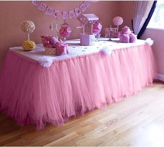Falda de mesa tutú de tul para decoración de baby shower fiesta ...
