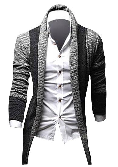 Jeansian Hombre Sudadera Tejido Casual Chaqueta De Punto Men Casual Knit Sweatshirt Cardigan Tops 9161: Amazon.es: Ropa y accesorios