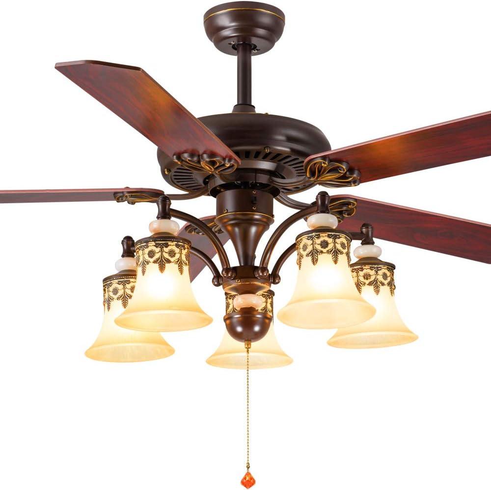 American Ventilador de techo 5 aspas ventilador antiguo lámpara de ...