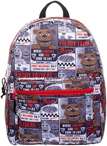 Five Nights at Freddy s All-Over Pizza Flyer Print 16 Backpack