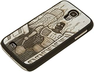 product image for CARVED Matte Black Case for Samsung Galaxy S4 - Monochrome Robot Doom (S4-BC1M-PE-DOOM)