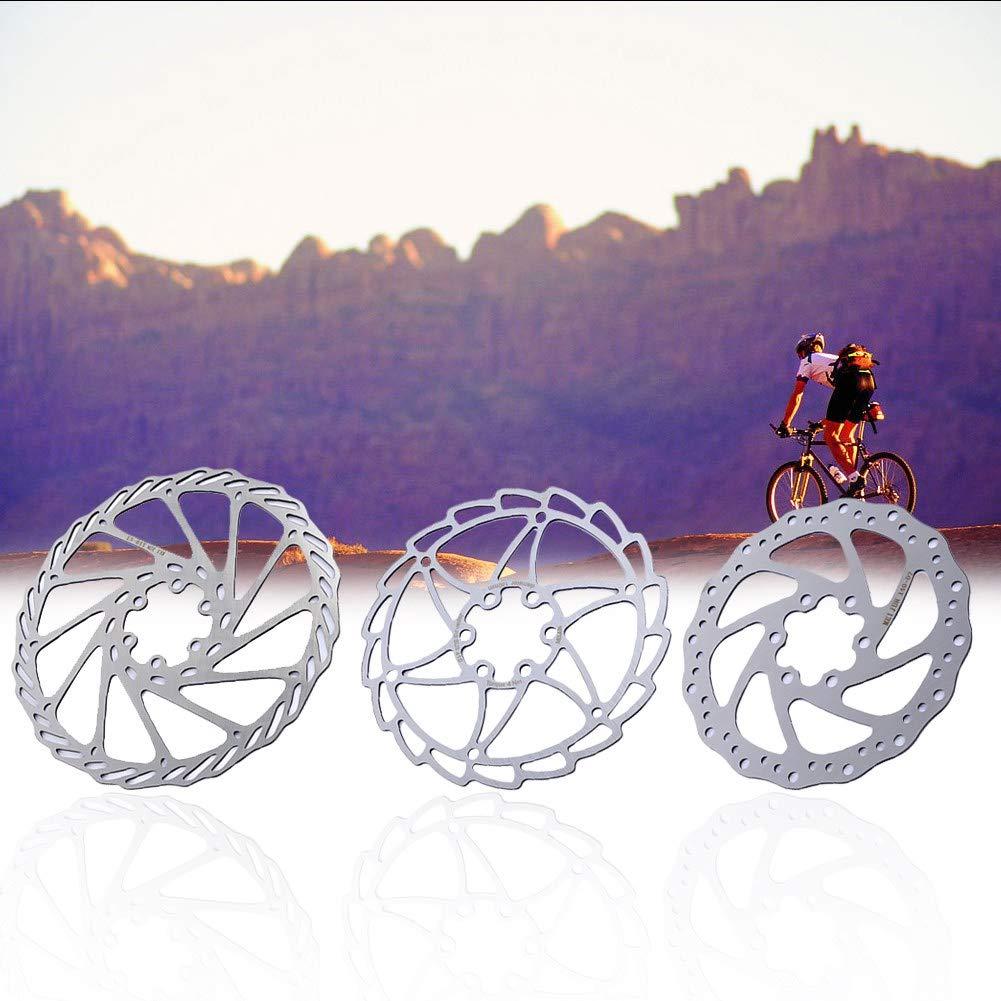 Alomejor 2 Piezas De Plata De Acero Inoxidable Bicicleta De Freno De Disco Rotor Mountain Road Bike Brake Parts