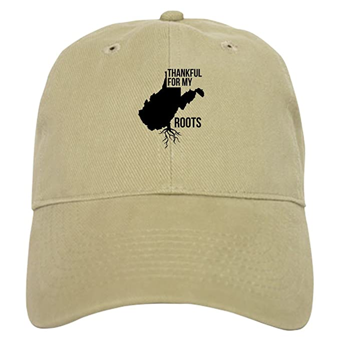 f8d3d6efdce Amazon.com  CafePress West Virginia Thankful for My Roots Baseball Cap with  Adjustable Closure