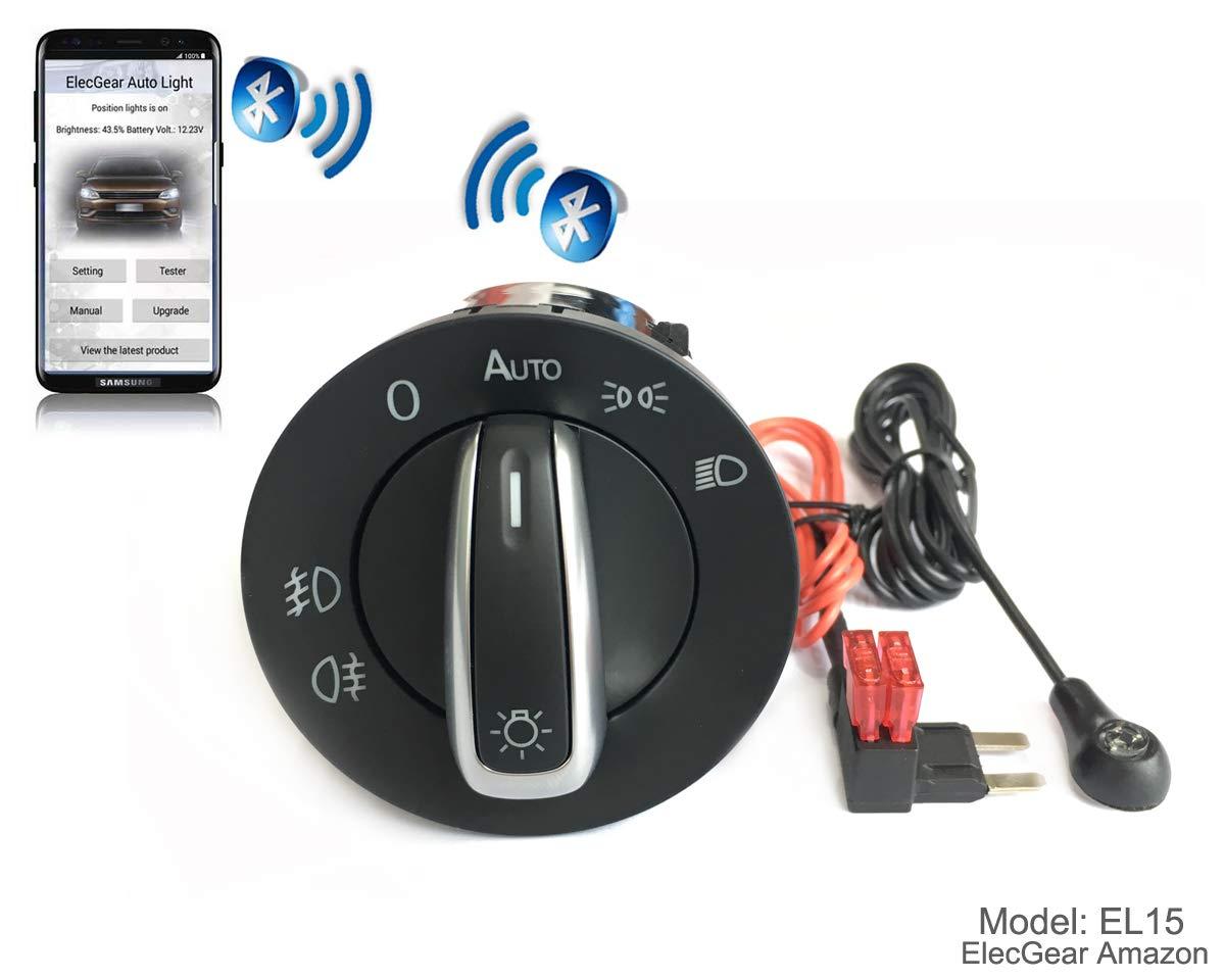 7L5941531B auto commutateur Brouillard Lumi/ère Interrupteur de Contr/ôle Unit/é Coming Leaving Home Relais EL16 Bluetooth App Commande Phare Feux Turbo S GTS S Cayenne 955 // 957 Base