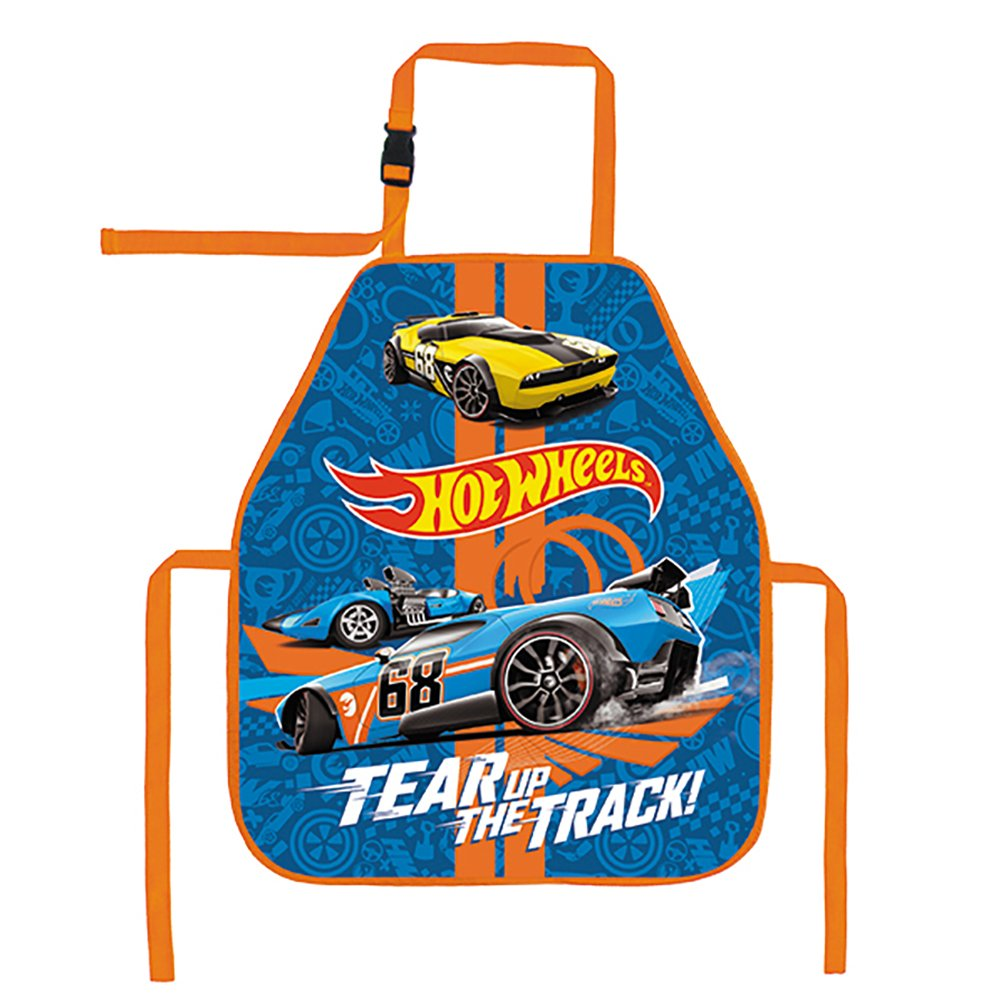 Kids Mattel Hot Wheels 374592 Art Paint School Waterproof Apron 49 x 41.5 CM Starpak