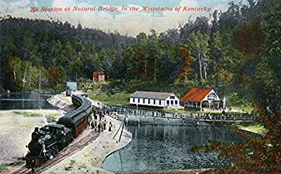 Kentucky - Train Station at Natural Bridge in the Mountains (12x18 Collectible Art Print, Wall Decor Travel Poster)