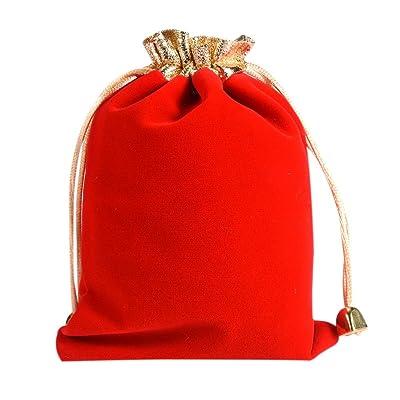 10 unidades 12 * 16 cm bolsitas de terciopelo bolsas de terciopelo para regalo boda fiesta bolsa regalo lianle: Hogar