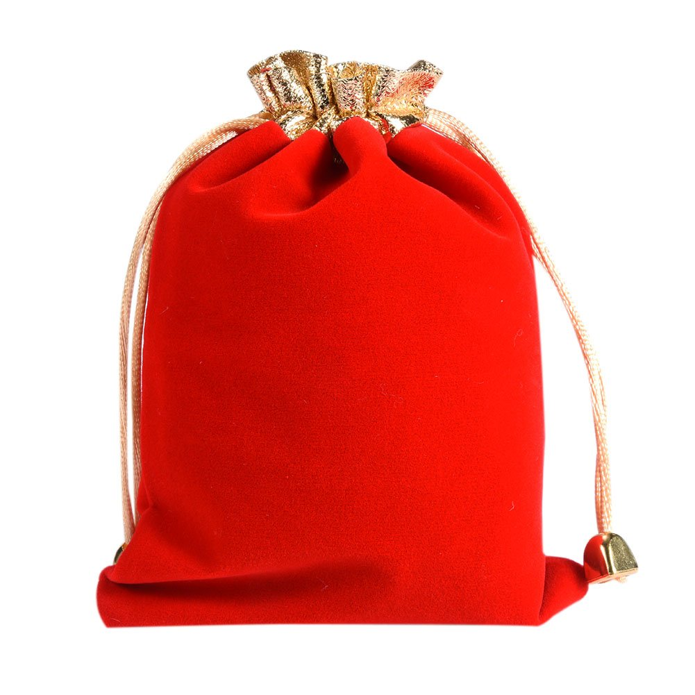 Sundlight 10Pcs 12*16cm Luxury Soft Velvet Bags Drawstring Gift Bags Jewelry Pouches Candy Bags