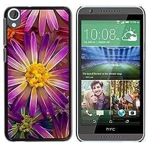 El Purple Elegance Sun - Metal de aluminio y de plástico duro Caja del teléfono - Negro - HTC Desire 820